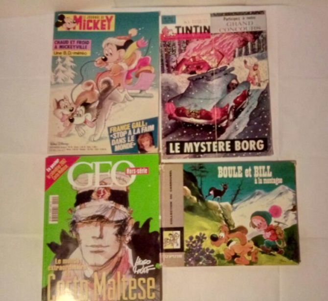 Mickey - Tintin - Boule et Bill